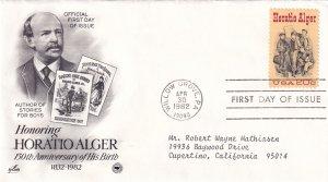 1982, Honoring Horatio Alger, Art Craft/PCS, FDC (E12262)