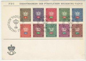 Liechtenstein 1968 Stamps First Day Cover ref R 16733