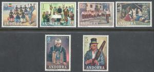 ANDORRA-SPANISH SCOTT 69-74