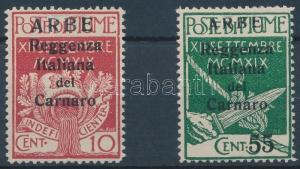 Fiume stamp 1920 Definitive values Mi 21 I + 25 Hinged WS135043