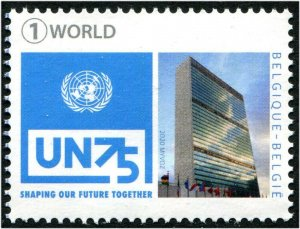 HERRICKSTAMP NEW ISSUES BELGIUM 75th Anniversary U.N.