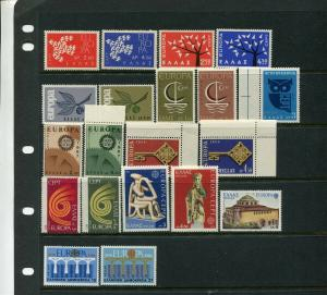 Greece   EUROPA ISSUES SETS -- Great Group (Mint NEVER HINGED)