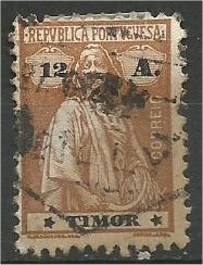 TIMOR, 1914, used 12a  Ceres Scott 168