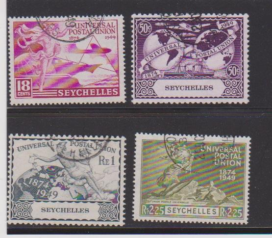SEYCHELLES  STAMPS #153-156 (4) USED  #400