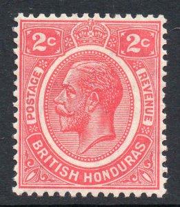 British Honduras 1922 KGV 2c rose-carmine wmk MSCA SG 128 mint