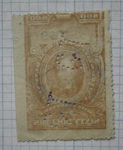 US IR sc#R247 $60 Lincoln brown Documentary stamp EFO Offset ink transfer back