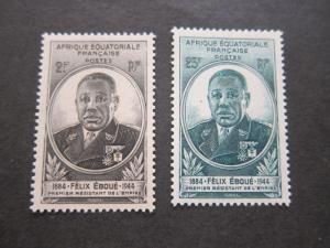 French Equatorial Africa 1945 Sc 156-7 set MH