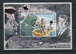 Chad 1970 Sheet Sc 225E Astronauts Conrad & Bean Gemini 11 & Apollo 12 Used/C...