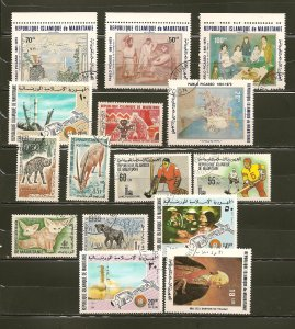 Mauritania Lot of 15 Different 1960's-1980's Stamps CTO