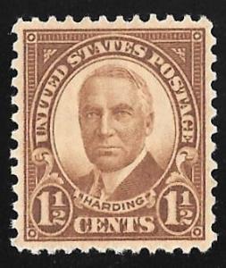 684 1 1/2 cent Harding, Brown Stamp mint OG NH EGRADED SUPERB 99 XXF