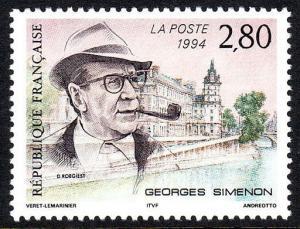 France 2443, MNH. Georges Simenon, Writer, 1994
