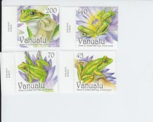 2011 Vanuatu Tree Frog Set of 4 (Scott 1008-11) MNH
