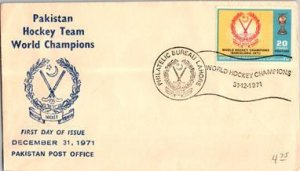Pakistan, Worldwide First Day Cover, Sports
