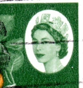 1966 Rhodesia Sg 375var 2d showing 'Scar on Queen's Neck' Flaw Fine Used