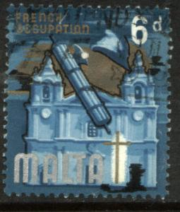 Malta 320, 6p Cathedral, USED. (183)