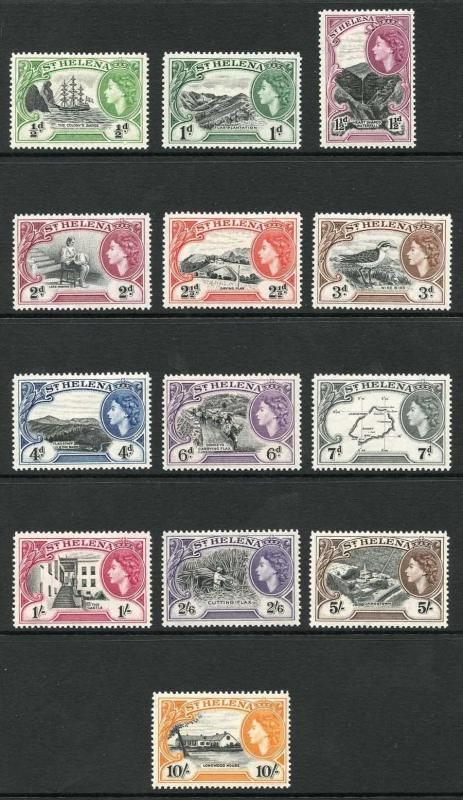 St Helena SG153/65 QEII set of 13 M/Mint