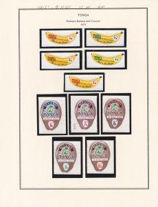Tonga # 248-257, )11-20, Redrawn Banana & Coconut Stamps, NH, 1/2 Cat.