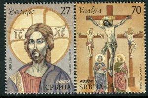 1587 - SERBIA 2021 - Easter - MNH Set