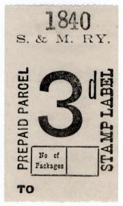 (I.B) Shropshire & Montgomeryshire Railway : Prepaid Parcel 3d