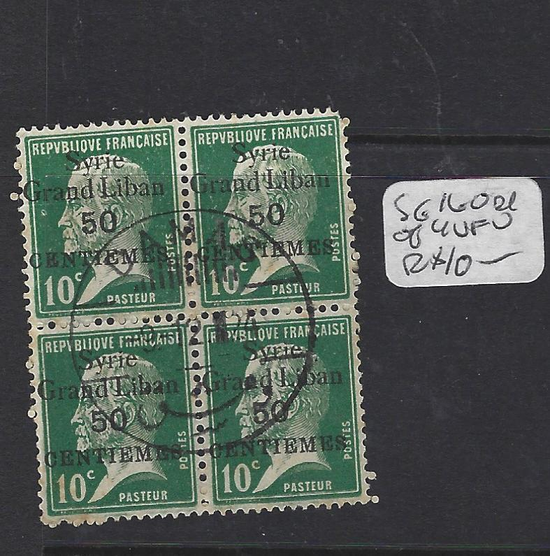 SYRIA (PP2305B)  ON FRANCE   50C/10C  SG 160  BL OF 4   VFU