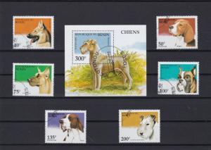 republic de benin dogs stamps ref r9634