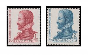 CHILE STAMP SET YEAR 1972. SCOTT # 414 - C313. MINT