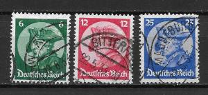 Germany 398-400 Frederick the Great set Used (z7)
