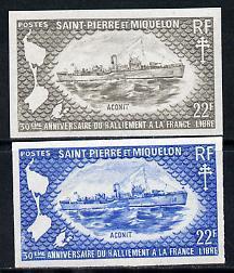 St Pierre & Miquelon 1971 French Naval Patrol Vessels...
