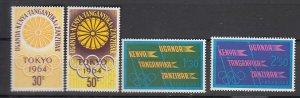J25746 1964 kenya uganda - tanzania set mnh #144-7 olympics