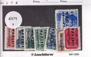 Lithuania: German Occupation: Mi #2-9, MH (42171)
