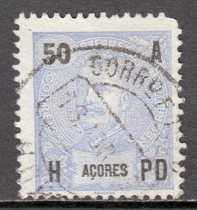 Azores - Scott #106 - Used - Rounded corner UR - SCV $4.75