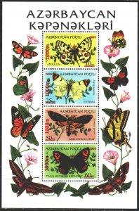 Azerbaijan. 2005. bl60. Butterflies, fauna. MNH.
