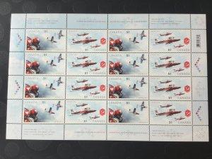 Canada Mint NH #2158-2159 Canadian forces snowbirds, airplane, full sheet of 16