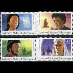 MICRONESIA 1987 - Scott# 58+C31-3 Christmas Set of 4 NH
