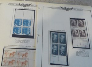 18 different 15 cent plate blocks of 4