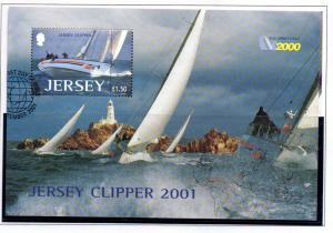 Jersey  Sc 1004 2001 £1.5 Jersey Clipper stamp sheet used