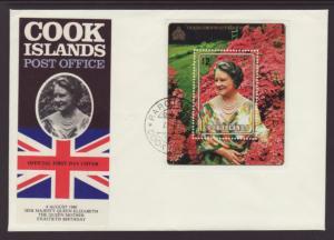 Cook Islands 555 Queen Mother U/A FDC