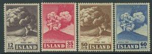 Iceland 1948 Hekla Volcano set Sc# 246-52 NH