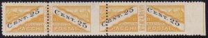 1946 San Marino, Packs Post N°19 / Iiia 25c. Yellow And Black MNH Set