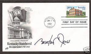 Gov. Brereton Jones signature on 1992 29c Kentucky FDC