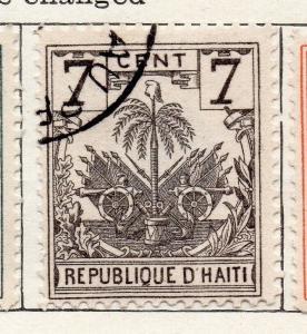 Haiti 1898 Early Issue Fine Used 7c. 100937