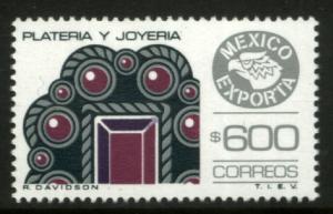 MEXICO Exporta 1497, $600P Jewelery Fluor Paper 8 MINT, NH. VF.