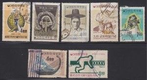 Used group of space fillers/damaged South Korean 60s commemoratives
