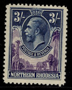 NORTHERN RHODESIA GV SG13, 3s violet & blue, M MINT. Cat £48.