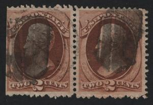 United States Used Scott Number 146 PAIR F-VF   - BARNEYS