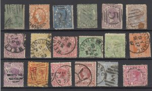 Victoria State QV Collection Of 18 Fine Used JK6318