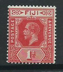 Fiji  GV  SG 127a  MUH  bright Scarlet