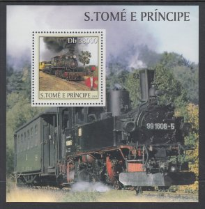 Sao Tome and Principe 1568 Train Souvenir Sheet MNH VF