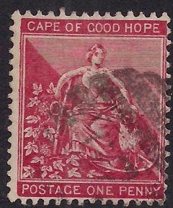Cape of Good Hope 1884 - 90 QV 1d Carmine Red SG 49a ( E1077)