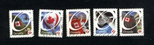 Canada #2419-23  -3  used  VF 2011 PD